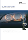 Frontpage of BM Headlight testers English brochure