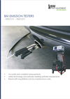 Frontpage of BM Emission tester English brochure