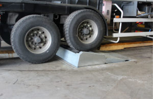 BM17200 roller brake tester in-ground with load simulation active