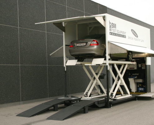 BM80000 mobile vehicle inspection lane