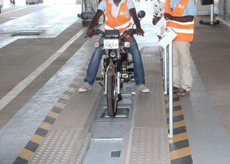 BM1010 motorcycle roller brake tester.