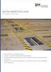 BM70A vehicle inspection lane brochure frontpage in English