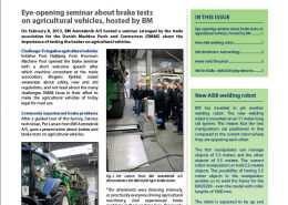 BM Newsletter no 7 frontpage. New ABB welding robot. Autoverktyg.