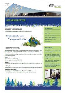 BM Newsletter no 8 frontpage.