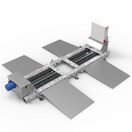 BM20200 roller brake tester - 3D illustration