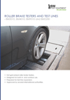Frontpage of roller brake testers for light vehicles brochure