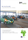 Frontpage of BM Multilane brochure. Case from ECL, Ghana