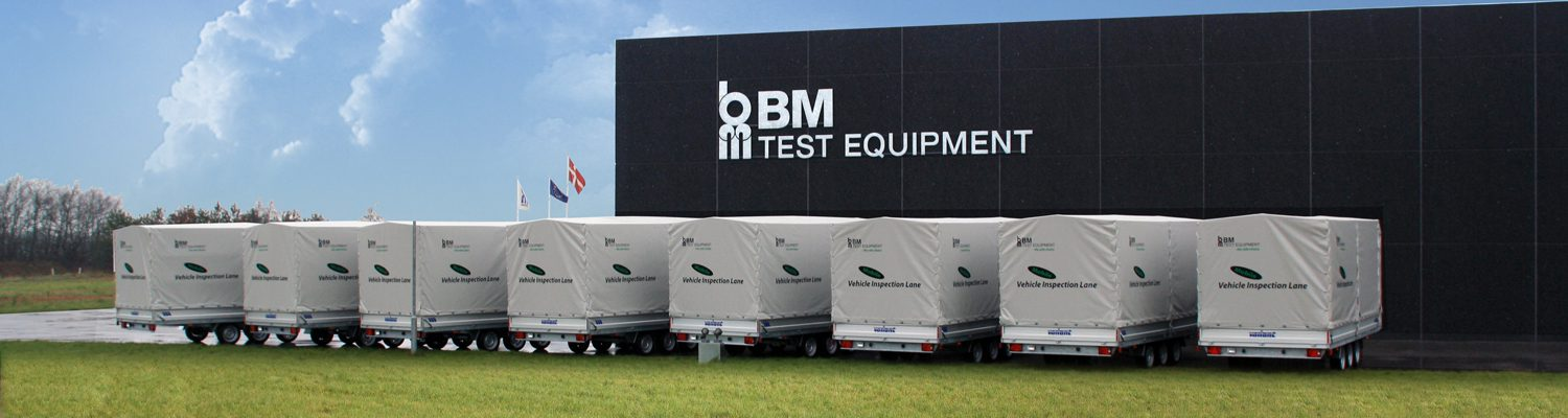 BM trailers. Vehicle inspection lane.