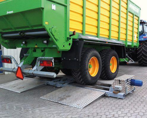 BM20200 mobil bremseprøvestand med landbrugsvogn