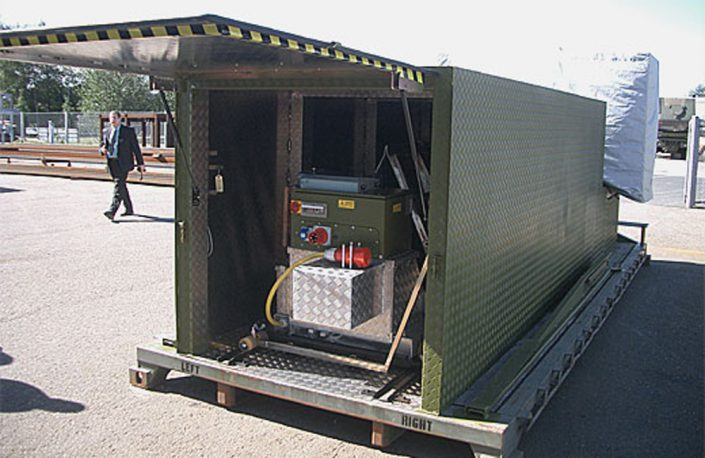 Mobile flatrack containing BM20200 mobile roller brake tester
