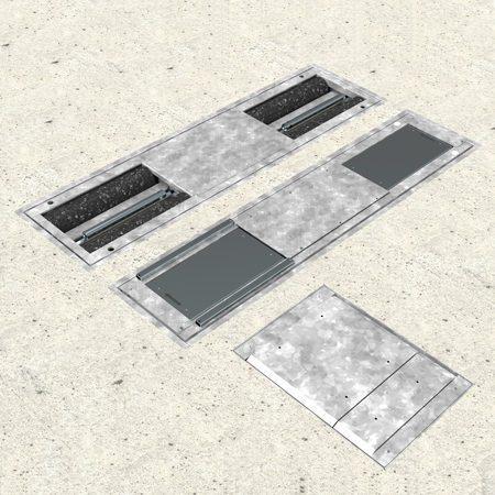 BM3010 testlinie nedstøbt - 3D illustration