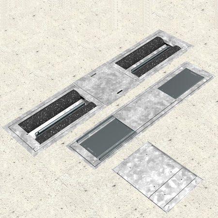 BM9010 test line for light vehicles - 3D illustration