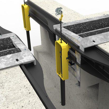 Vægmonteret belastningssystem - 3D illustration