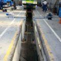 BM20200 roller brake tester split bed installation
