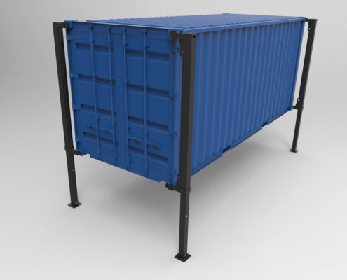 BM90 container løftesystem - 3D illustration