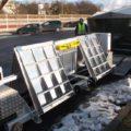 BM20200 mobile roller brake tester in hard top trailer