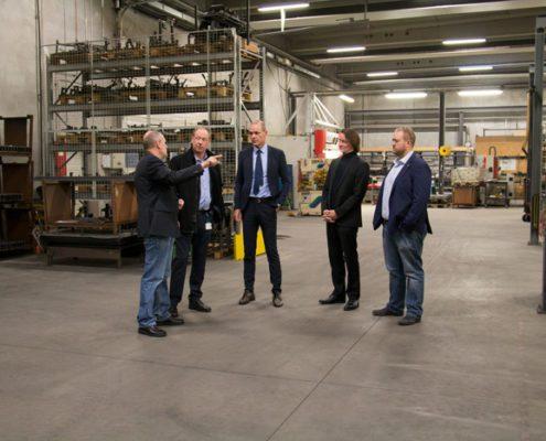 Besøg af borgemster Torsten Nilsen og kommunaldirektør Lasse Jacobsen