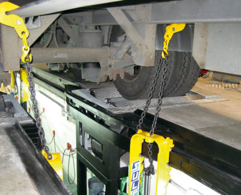 BM14200 roller brake tester with CLS load simulation