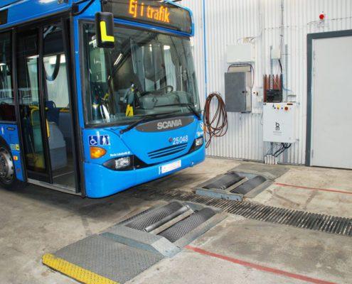 BM14200 roller brake tester with bus