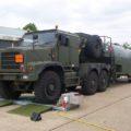 BM20200 mobile roller brake tester with military vehicle