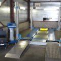BM3010 roller brake tester in front of lift
