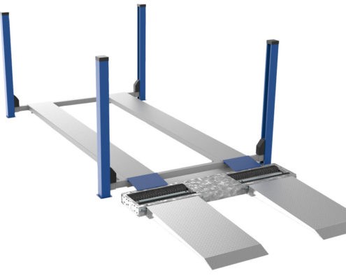 BM3010 bremseprøvestand foran lift - 3D illustration