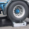 BM605 tacho tester on-ground with truck