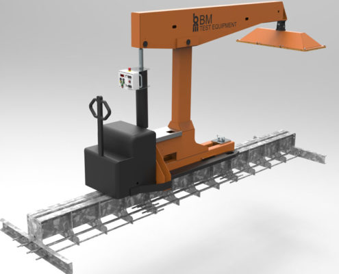 BM74000 chassis load simulation - 3D illustration
