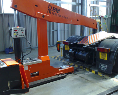 BM74000 chassis load simulation in workshop