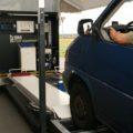 BM80000 mobile vehicle inspection lane with van