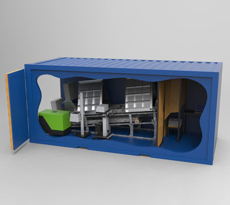 BM81 Container koncept - 3D illustration