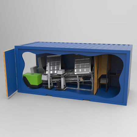 BM81 Container concept - 3D illustration