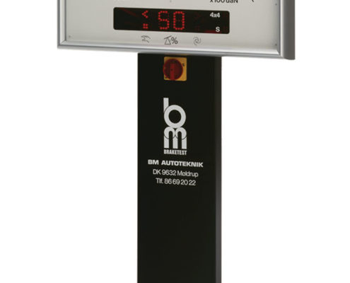 Display for testing equipment X010 mounted on column