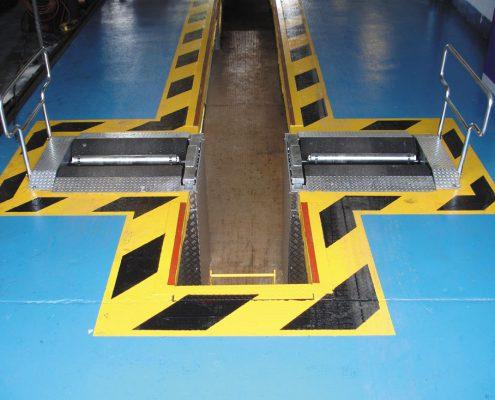 The BM ATF roller brake tester in the UK. BM14200 roller brake tester.