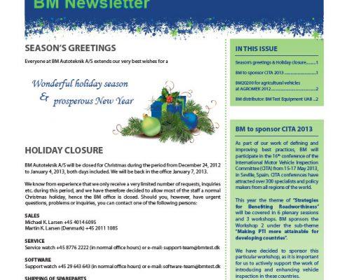 BM Newsletter no. 6