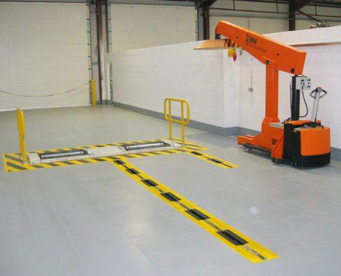 BM14200 roller brake tester and BM74000 load simulation in VOSA workshop