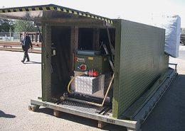 Mobile flatrack containing BM20200 mobile roller brake tester