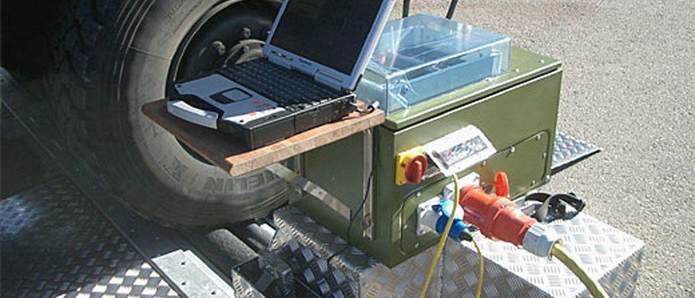 BM20200 mobile roller brake tester with BM FlexCheck software