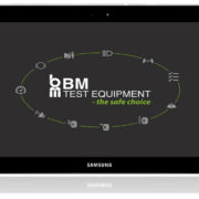 BM FlexCheck Android App - front screen on tablet